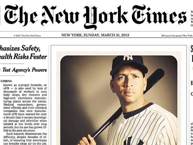 Φωτογραφία με iPhone πρωτοσέλιδο στους New York Times
