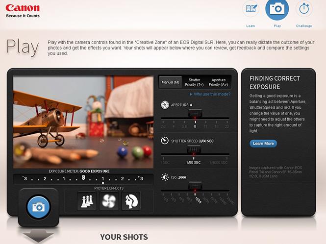 Η Canon βοηθάει τους αρχάριους φωτογράφους με νέα εκπαιδευτική ιστοσελίδα