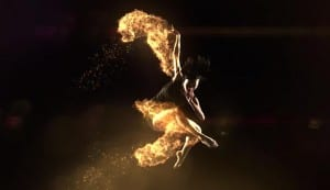 Dancers on fire 1000 fps