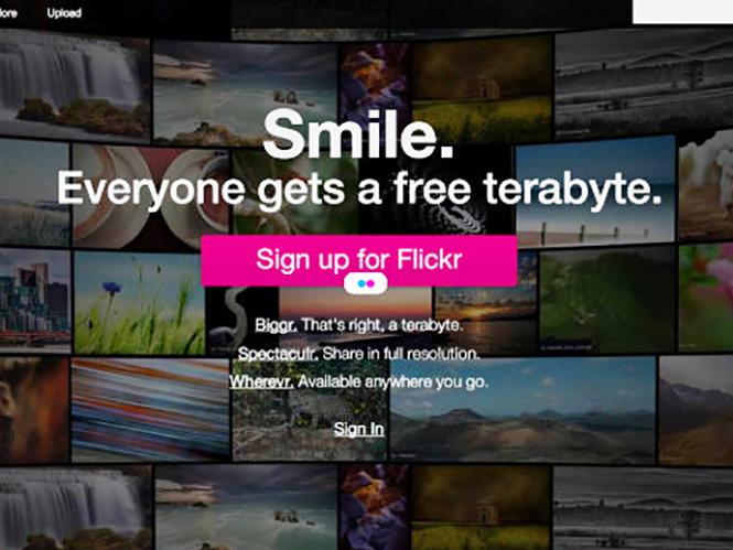Η ιστοσελίδα Flickr μόλις χάρισε σε όλους 1 terabyte χώρο