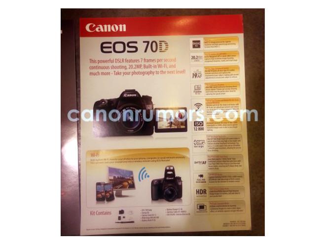 Διέρρευσαν τα χαρακτηριστικά της επερχόμενης Canon EOS 70D