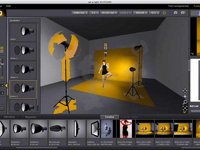 Πρόγραμμα εξομοίωσης φωτισμού στούντιο, set.a.light 3D STUDIO