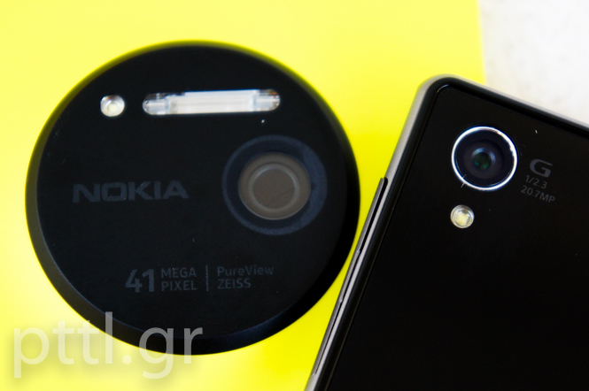 Sony Z1 vs Nokia Lumia 1020
