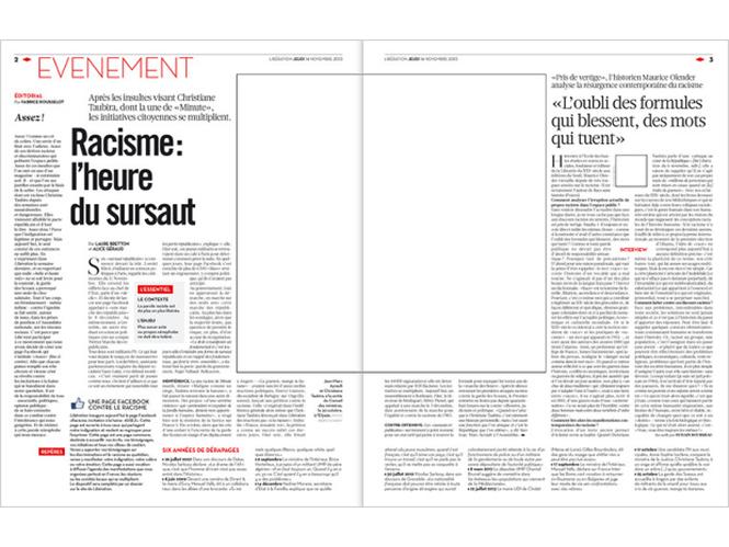 Η εφημερίδα Libération κυκλοφορεί χωρίς καθόλου εικόνες, σε ένδειξη συμπαράστασης στους φωτογράφους