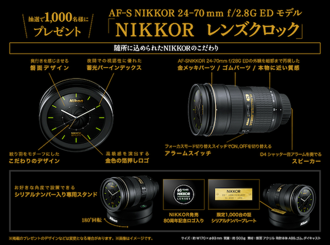 Nikon Lens Clock