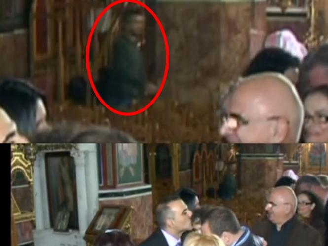 Κλέφτης παίρνει την τσάντα φωτογράφου από εκκλησία (video)