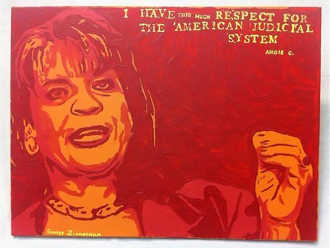Το Ap εναντίον του George Zimmerman για πίνακα που ζωγράφισε βάση φωτογραφίας