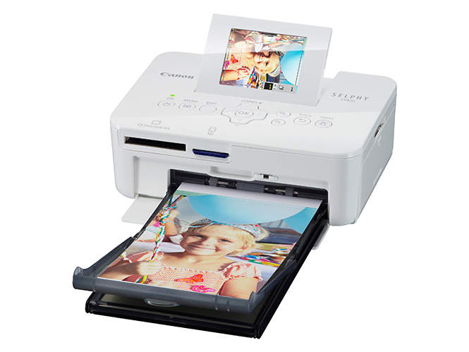 SELPHY CP820 Packshot FSL LCD up paper tray White