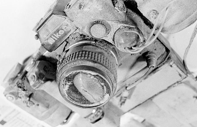 Η μηχανή του Reid Blackburn μετά την έκρηξη