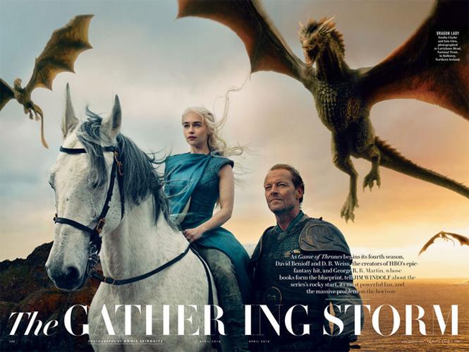 H Annie Leibovitz φωτογραφίζει τους ήρωες του Game of Thrones