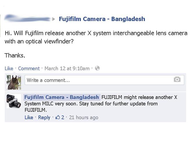 Έρχεται νέα mirrorless μηχανή στο σύστημα X της Fujifilm;