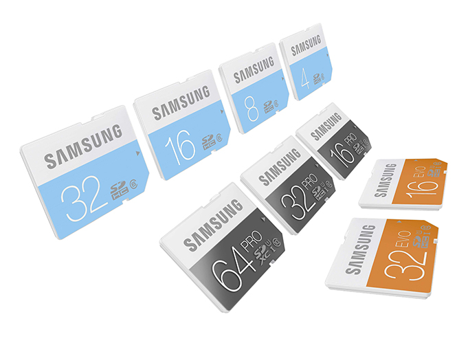 Samsung lineup_SD cards