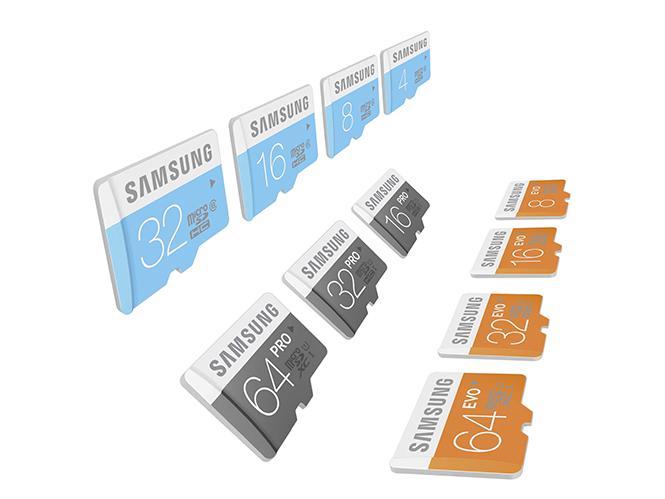Samsung lineup_microSD cards