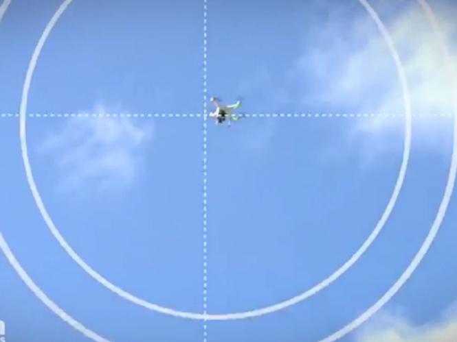 Drone καταρρίπτεται από ένα μπαλάκι του γκολφ