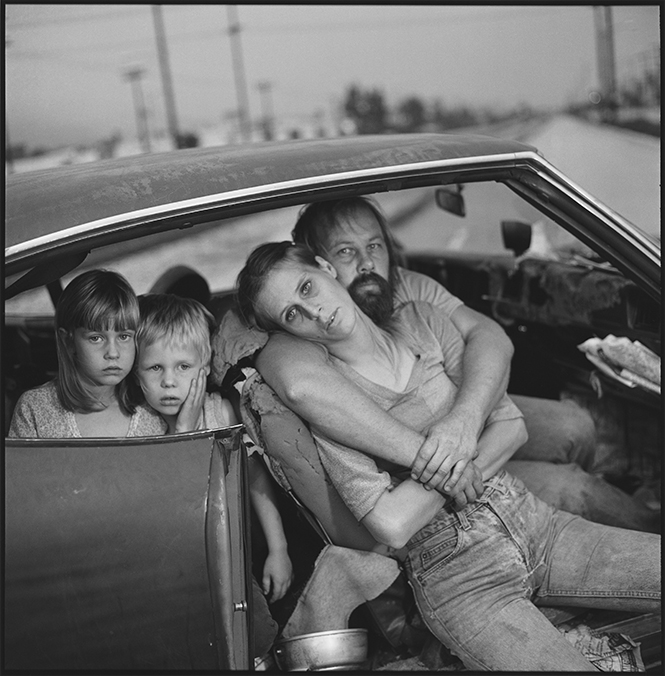 The Damm Family in Their Car, Los Angeles, California, USA 1987