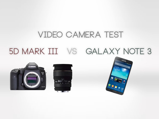 Canon EOS 5D Mark III εναντίον του Samsung Galaxy Note 3 στην λήψη video
