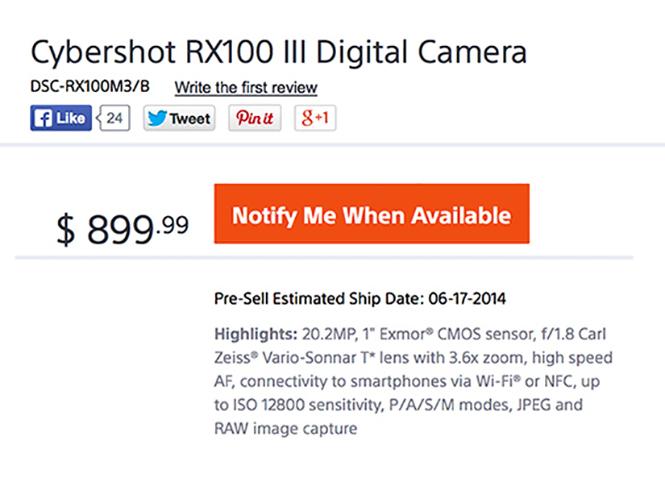 Διέρρευσαν τα τεχνικά χαρακτηριστικά και οι πρώτες εικόνες της Sony RX100 III, η οποία ανακοινώνεται αύριο