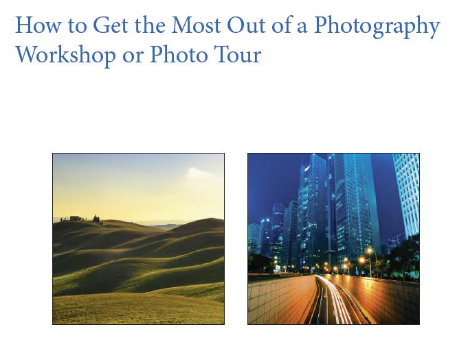 Δωρεάν ebook με όσα θέλετε να μάθετε για τα φωτογραφικά workshops