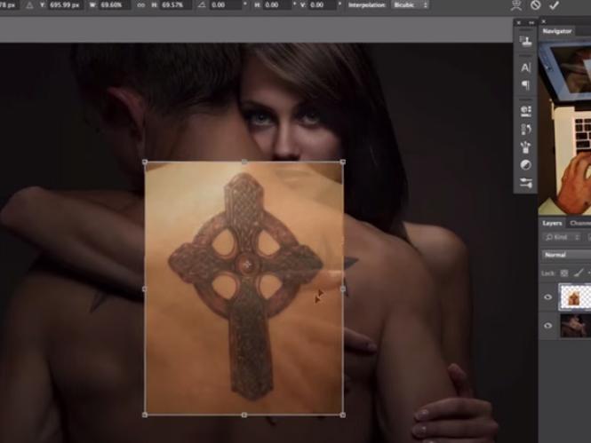 Δείτε πως να προσθέσετε ένα τατουάζ με την βοήθεια του Adobe Photoshop