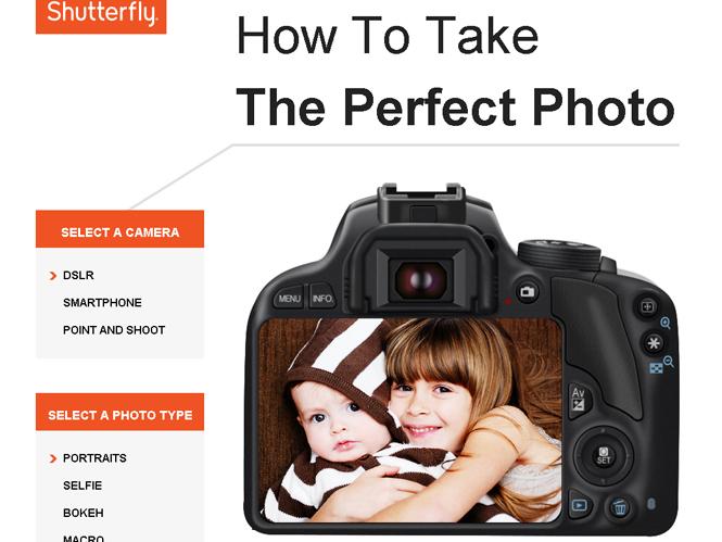 Η Shutterfly δημιούργησε ειδικό οδηγό με συμβουλές για την λήψη τέλειων φωτογραφιών