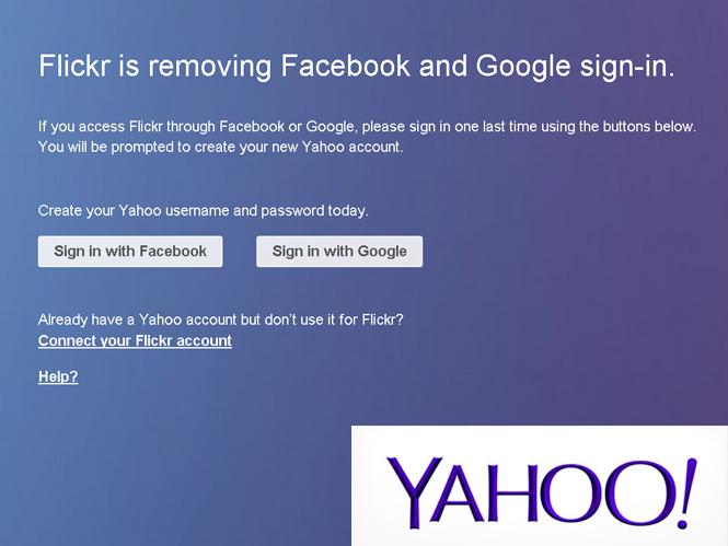 Αν χρησιμοποιείτε την Flickr ήρθε η ώρα να δημιουργήσετε τον Yahoo λογαριασμό σας