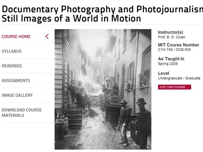 Το MIT διαθέτει online και δωρεάν ένα από τα φωτογραφικά του μαθήματα