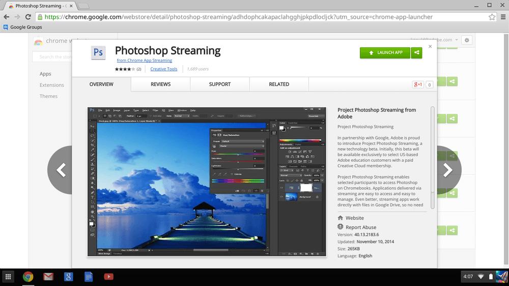 Adobe και Google φέρνουν το Adobe Photoshop στον Chrome
