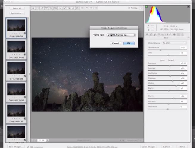 Δείτε πως να επεξεργαστείτε τις εικόνες που έχετε τραβήξει για ένα Time Lapse video