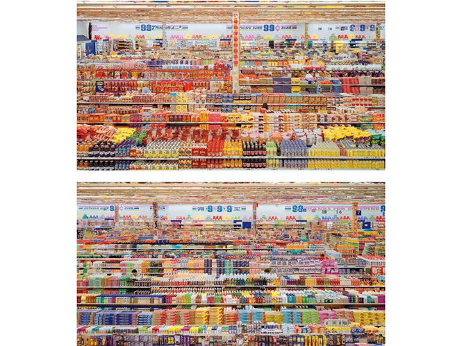 99 Cent II, Diptychon,  Andreas Gursky (2001)