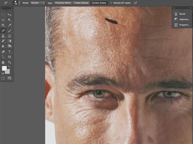"""Δείτε πως να ρετουσάρετε το πρόσωπο ενός """"ώριμου"""" άντρα στο Adobe Photoshop"""