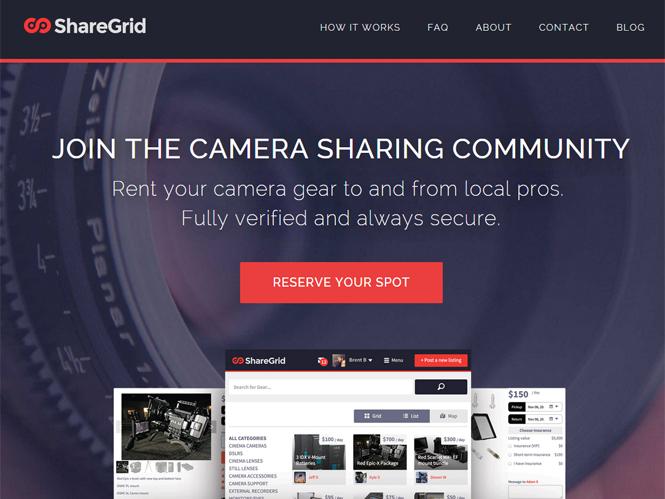 ShareGrid, νέα ιστοσελίδα ενοικίασης εξοπλισμού μεταξύ φωτογράφων