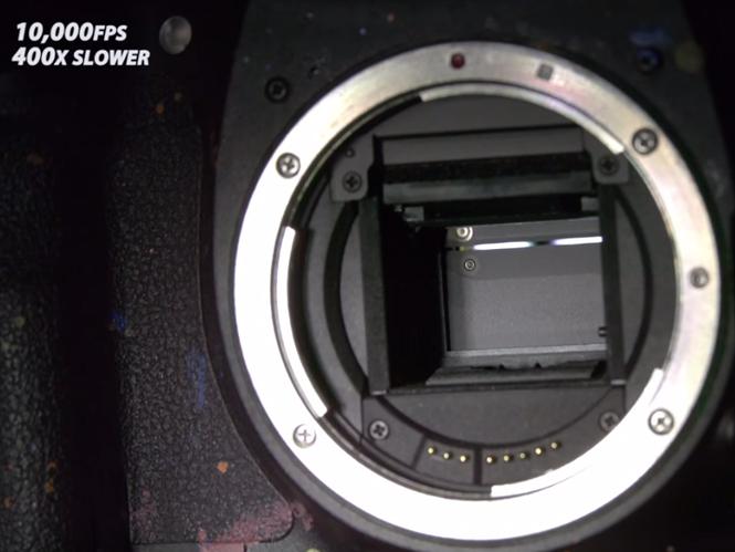 Δείτε πως λειτουργεί το κλείστρο μίας DSLR μηχανής σε slow motion video των 10.000fps
