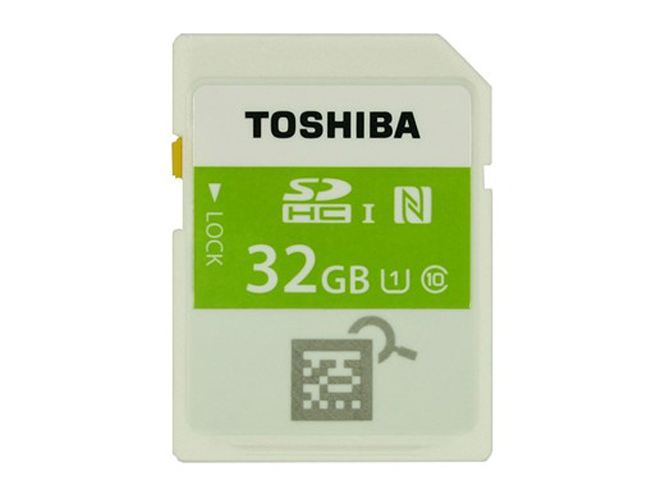 Η Toshiba παρουσιάζει την πρώτη SD κάρτα μνήμης με NFC