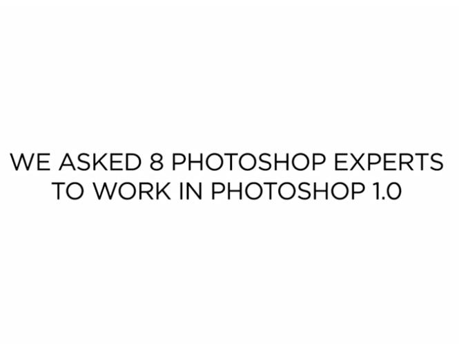Μάγοι του Photoshop προσπαθούν να δουλέψουν στο Photoshop 1.0