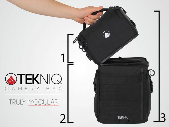Η TEKNIQ είναι μια τσάντα 3 σε 1 που προσαρμόζεται σύμφωνα με τις ανάγκες σας