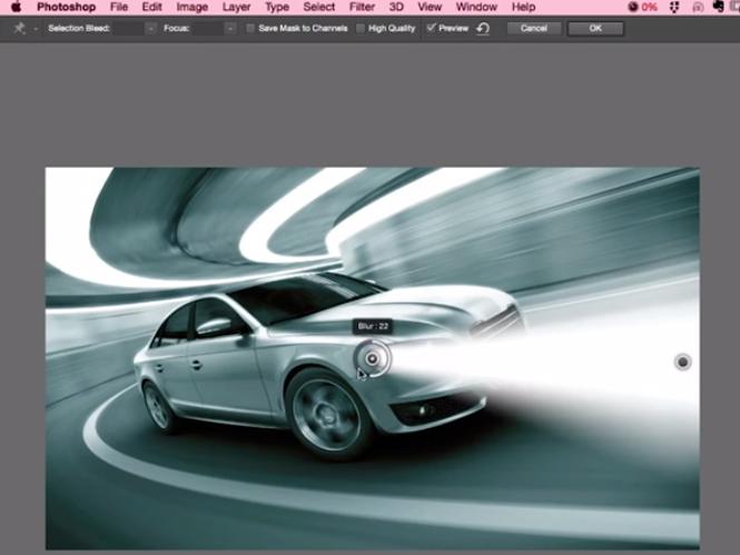 Ανάψτε τα φώτα του αυτοκινήτου στο Adobe Photoshop