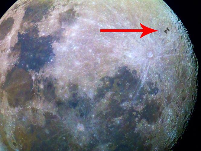 Δείτε τον Διεθνή Διαστημικό Σταθμό όπως φαίνεται από την Γη
