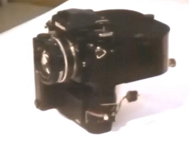 Μία Nikon F3 στα γυρίσματα της δεύτερης ταινίας του Indiana Jones