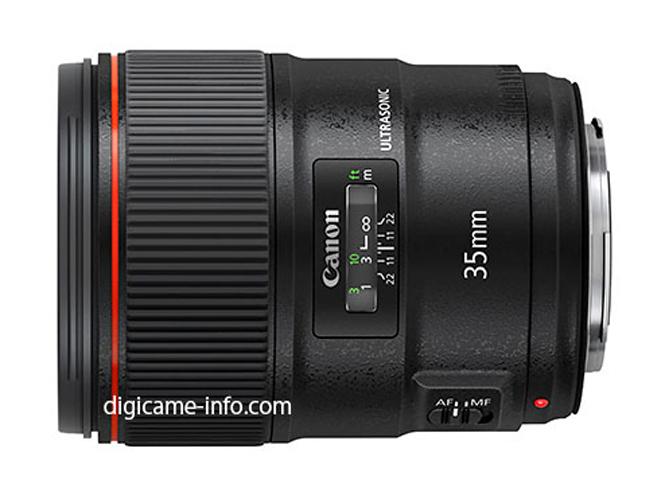 Διέρρευσαν η πρώτη εικόνα και τα τεχνικά χαρακτηριστικά του Canon EF35mm F1.4L II
