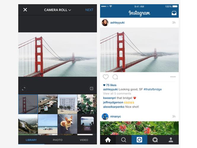 """Το Instagram επιτρέπει το """"ανέβασμα"""" φωτογραφιών σε μη τετράγωνο φορμά"""