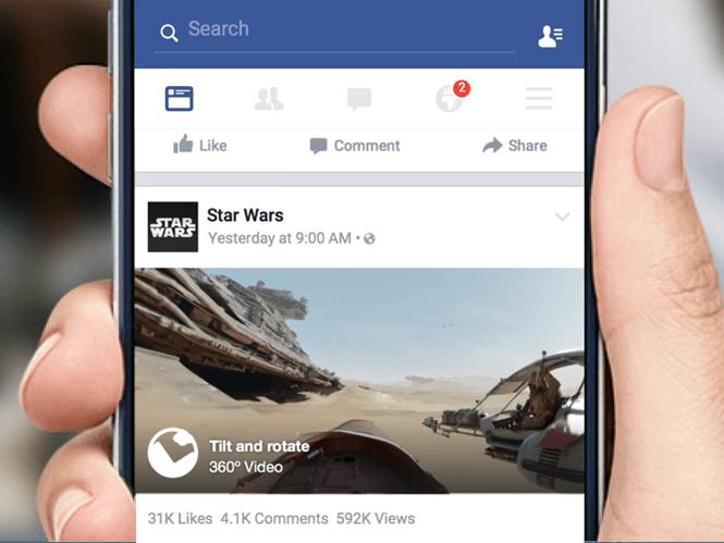 Το Facebook υποστηρίζει και videos 360 μοιρών