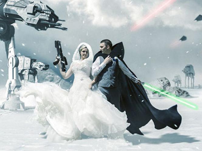 Δημιουργώντας μία φωτογραφία γάμου σε περιβάλλον Star Wars