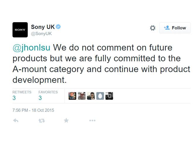 H Sony λέει τώρα ότι το A-mount δεν θα πεθάνει