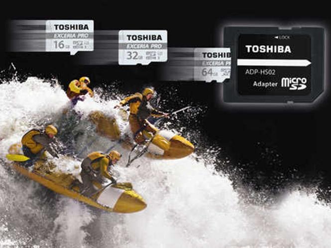 Η Toshiba παρουσιάζει τις νέες microSD, Toshiba EXCERIA PRO