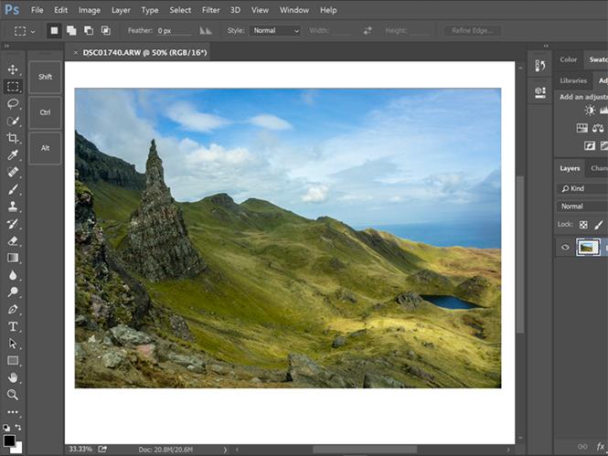 Αναβάθμιση για το Adobe Photoshop CC με δυνατότητα παραμετροποίησης της μπάρας εργαλείων