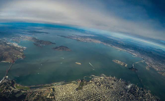 Το Σαν Φρανσίσκο από τα 11.000 πόδια.