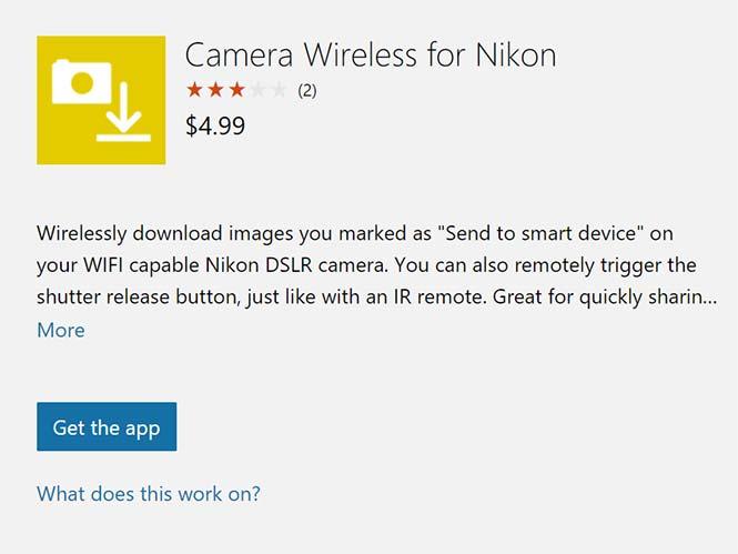 H πρώτη εφαρμογή στα Windows 10 για Nikon μηχανές με WiFi είναι γεγονός