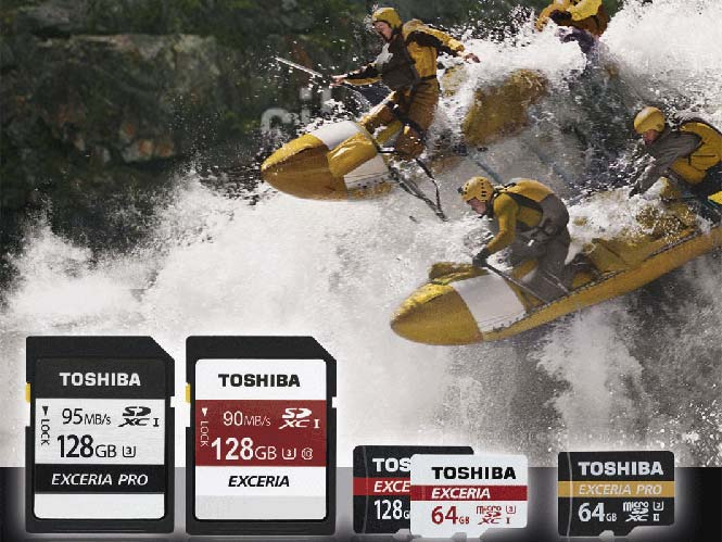 Η Toshiba παρουσίασε νέες SD και microSD κάρτες μνήμης στη σειρά Exceria Pro