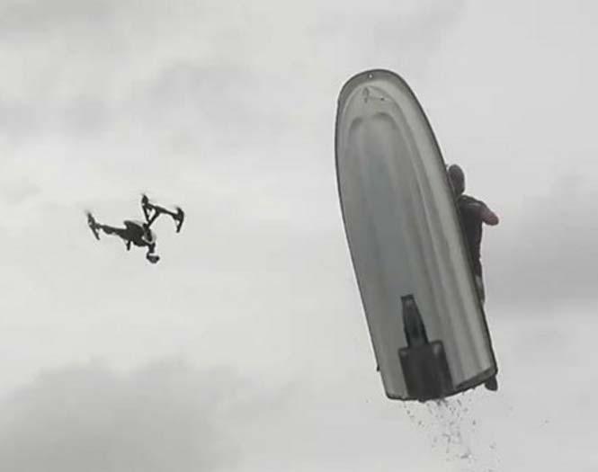 Jet Ski κάνει τρελό άλμα και καταρρίπτει ένα drone αξίας 3.400 ευρώ