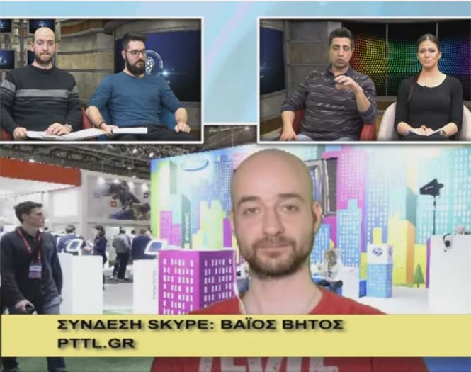 To pttlgr στην εκπομπή «Η τεχνολογία μας ενώνει» 3.3.2016